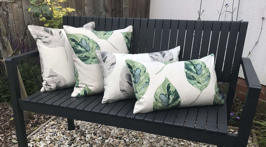 McAlister Textiles Leaf Forest Green Floral Cotton Print Pillows Pillow