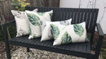 Carica l'immagine nel visualizzatore di Gallery, McAlister Textiles Leaf Soft Grey Floral Cotton Print Cushions Cushions and Covers