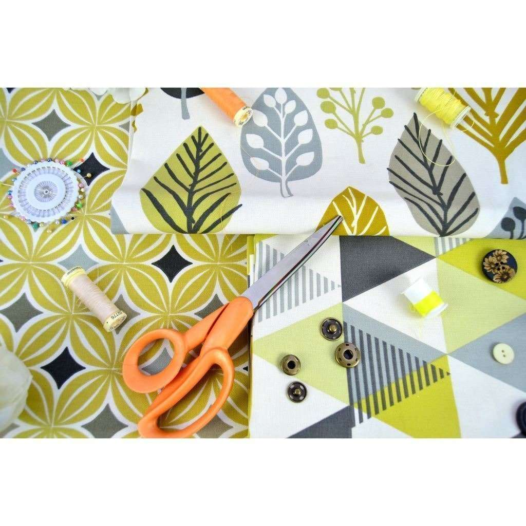 McAlister Textiles Laila Cotton Ochre Yellow Printed Fabric Fabrics