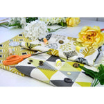 Load image into Gallery viewer, McAlister Textiles Vita Cotton Print Ochre Yellow Fabric Fabrics