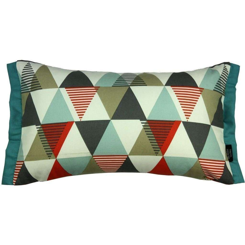McAlister Textiles Vita Cotton Print Burnt Orange Cushion Cushions and Covers Cover Only 50cm x 30cm