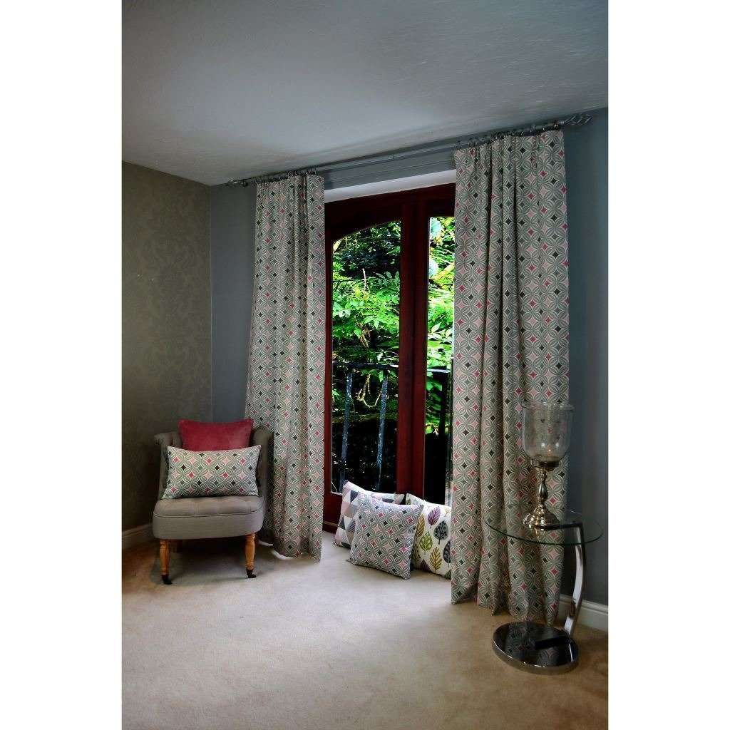"McAlister Textiles Laila Cotton Blush Pink Curtains Tailored Curtains 116cm(w) x 182cm(d) (46"" x 72"")"