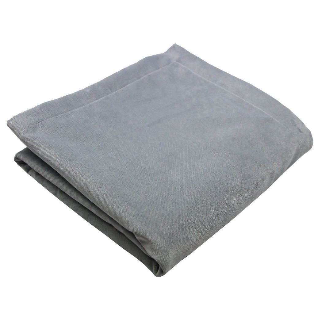 McAlister Textiles Matt Dove Grey Velvet Throw Blanket Throws and Runners