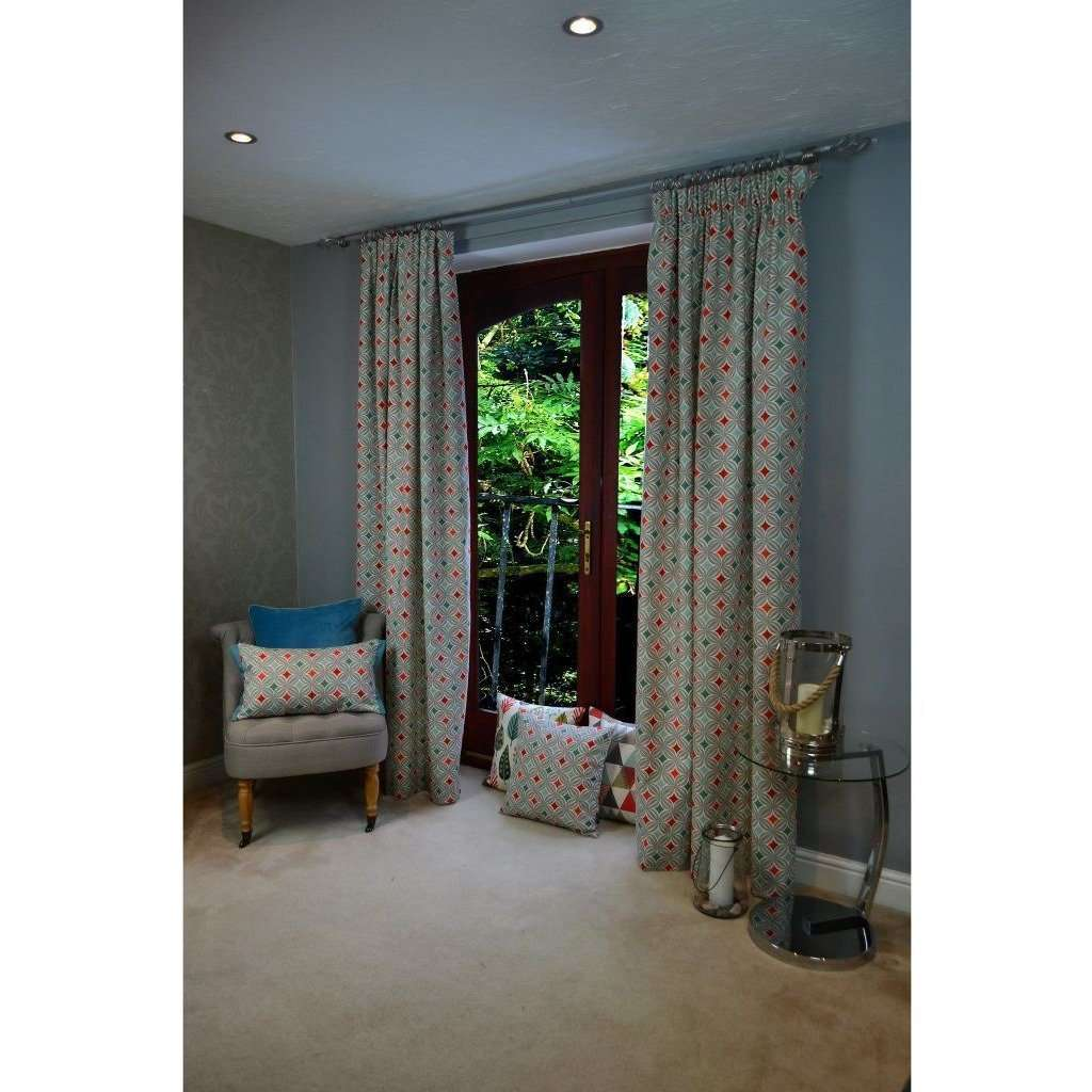 "McAlister Textiles Laila Cotton Burnt Orange Curtains Tailored Curtains 116cm(w) x 182cm(d) (46"" x 72"")"