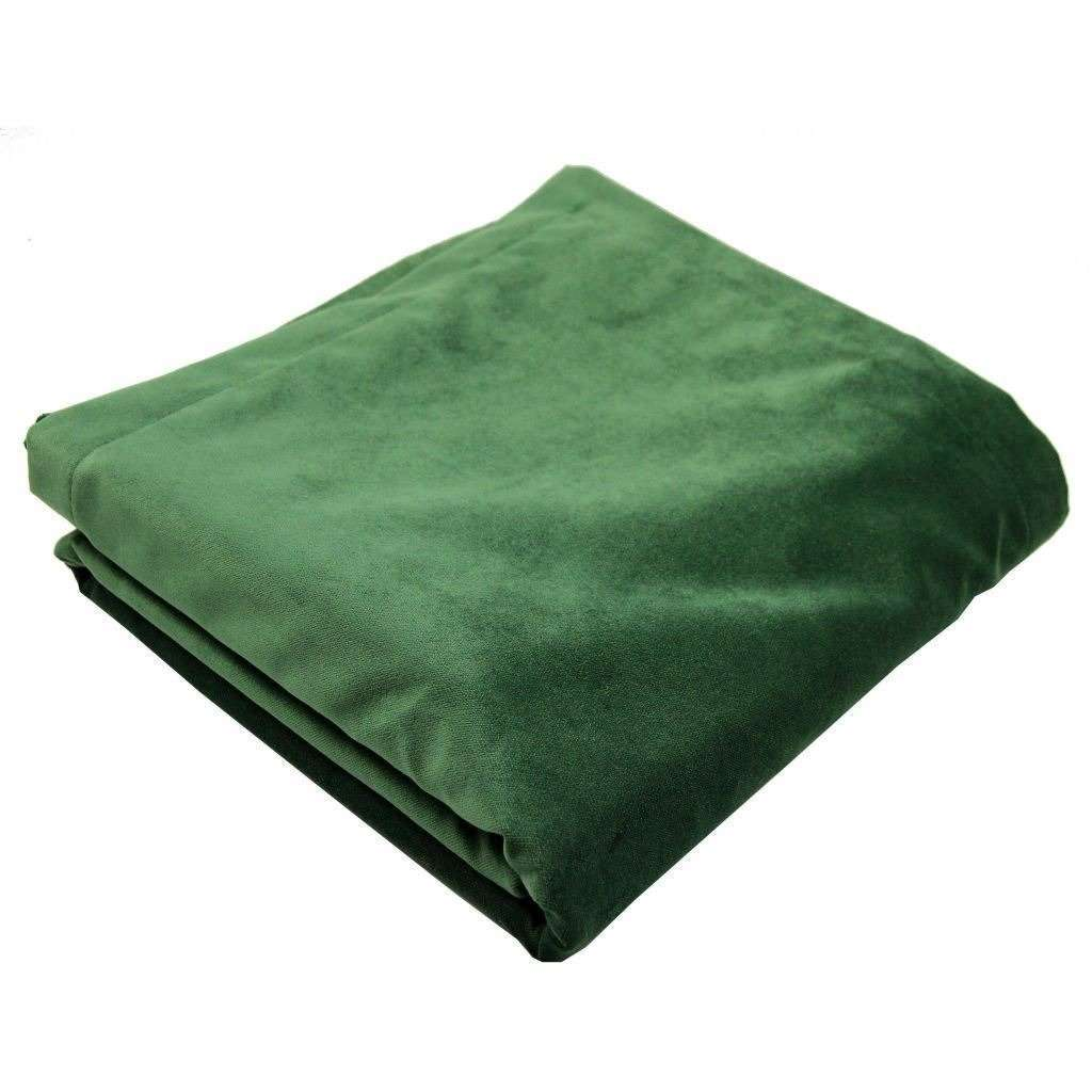 McAlister Textiles Matt Moss Green Velvet Throw Blankets & Runners Throws and Runners Regular (130cm x 200cm)