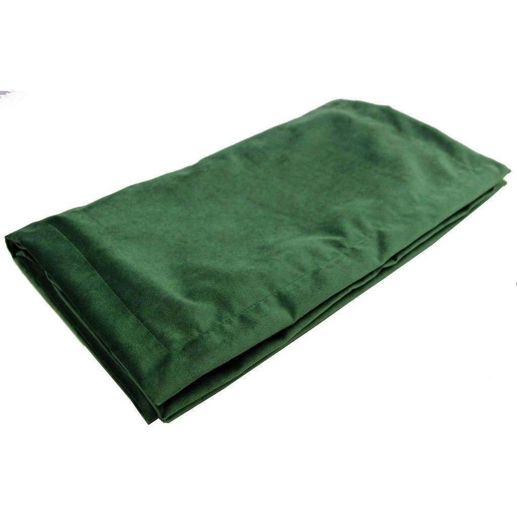 McAlister Textiles Matt Moss Green Velvet Throw Blankets & Runners Throws and Runners Bed Runner (50cm x 240cm)