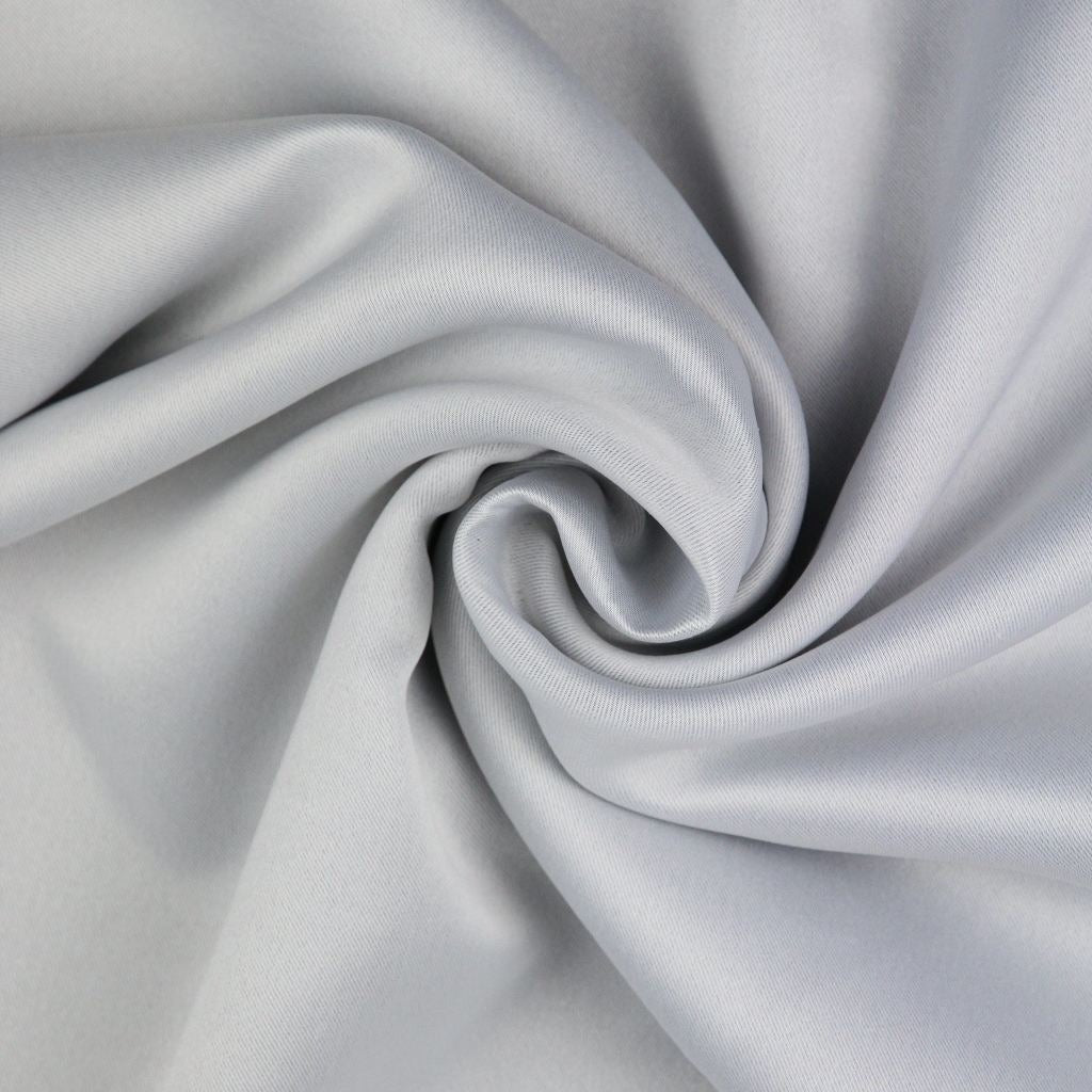 McAlister Textiles Minerals Cream White Blackout Curtain Fabric Sample Fabrics
