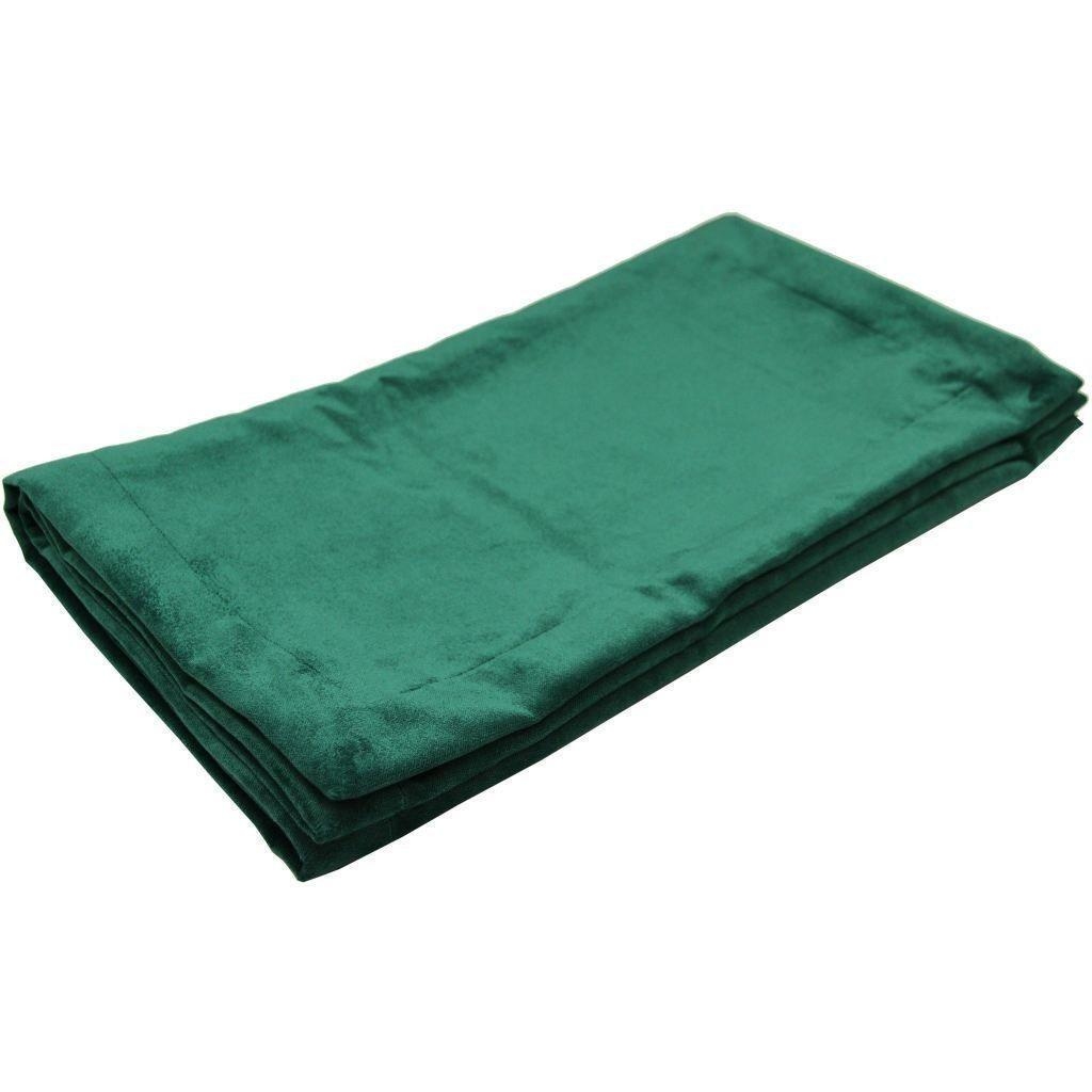 McAlister Textiles Matt Emerald Green Velvet Throw Blanket Throws and Runners Bed Runner (50cm x 240cm)