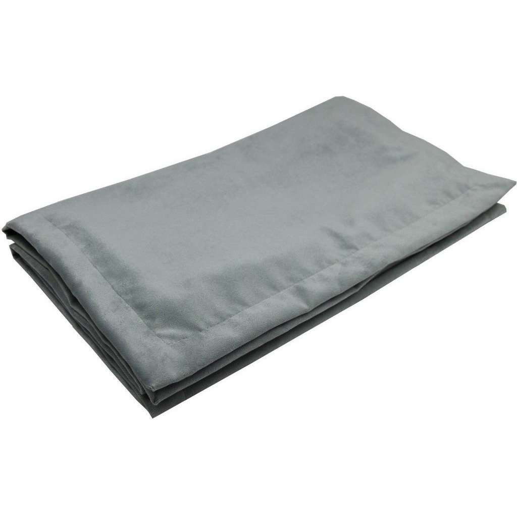McAlister Textiles Matt Dove Grey Velvet Table Runner Throws and Runners