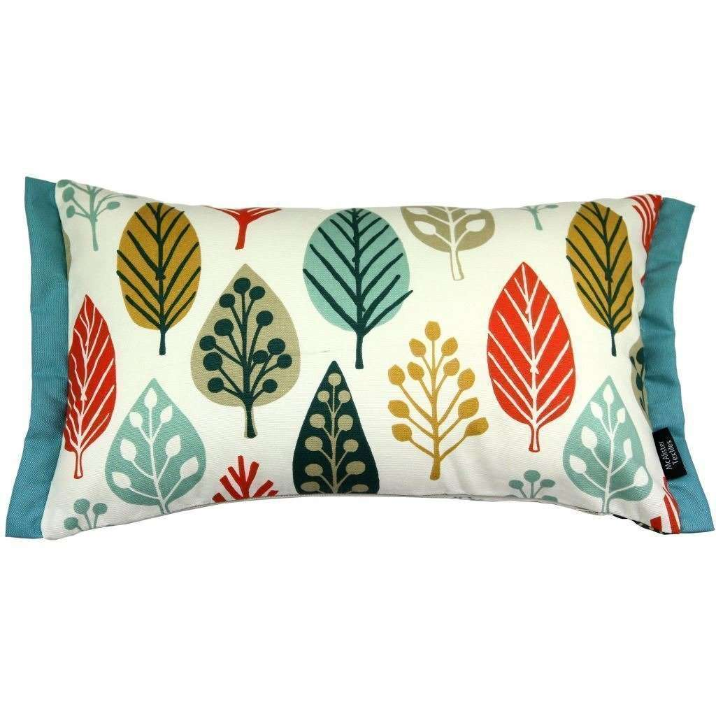 McAlister Textiles Magda Cotton Print Burnt Orange Cushion Cushions and Covers Cover Only 50cm x 30cm