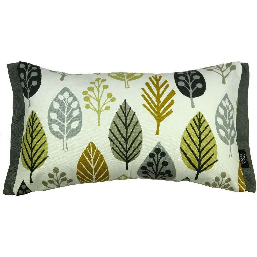 McAlister Textiles Magda Cotton Print Ochre Yellow Cushion Cushions and Covers Cover Only 50cm x 30cm