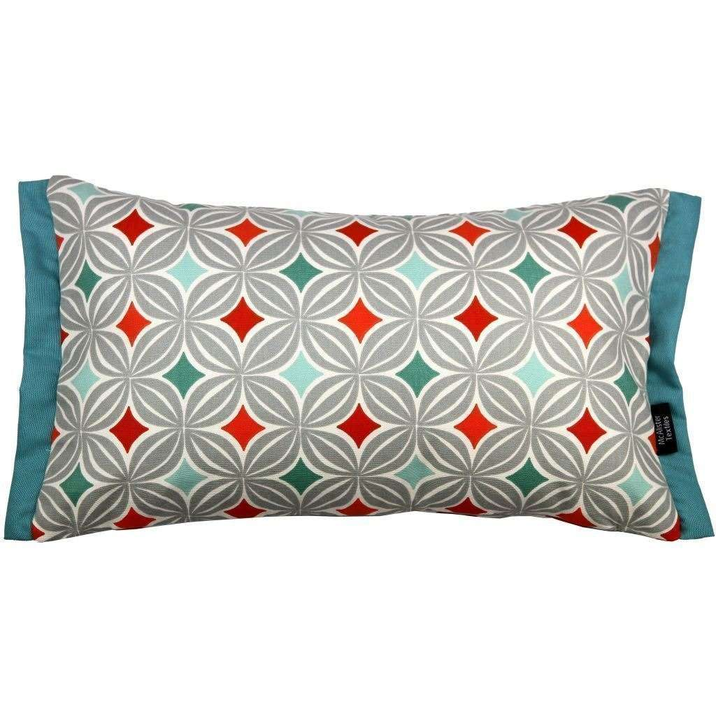 McAlister Textiles Laila Cotton Print Burnt Orange Cushion Cushions and Covers Cover Only 50cm x 30cm