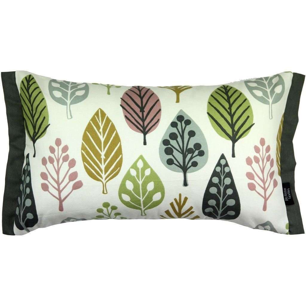 McAlister Textiles Magda Cotton Print Blush Pink Cushion Cushions and Covers Cover Only 50cm x 30cm