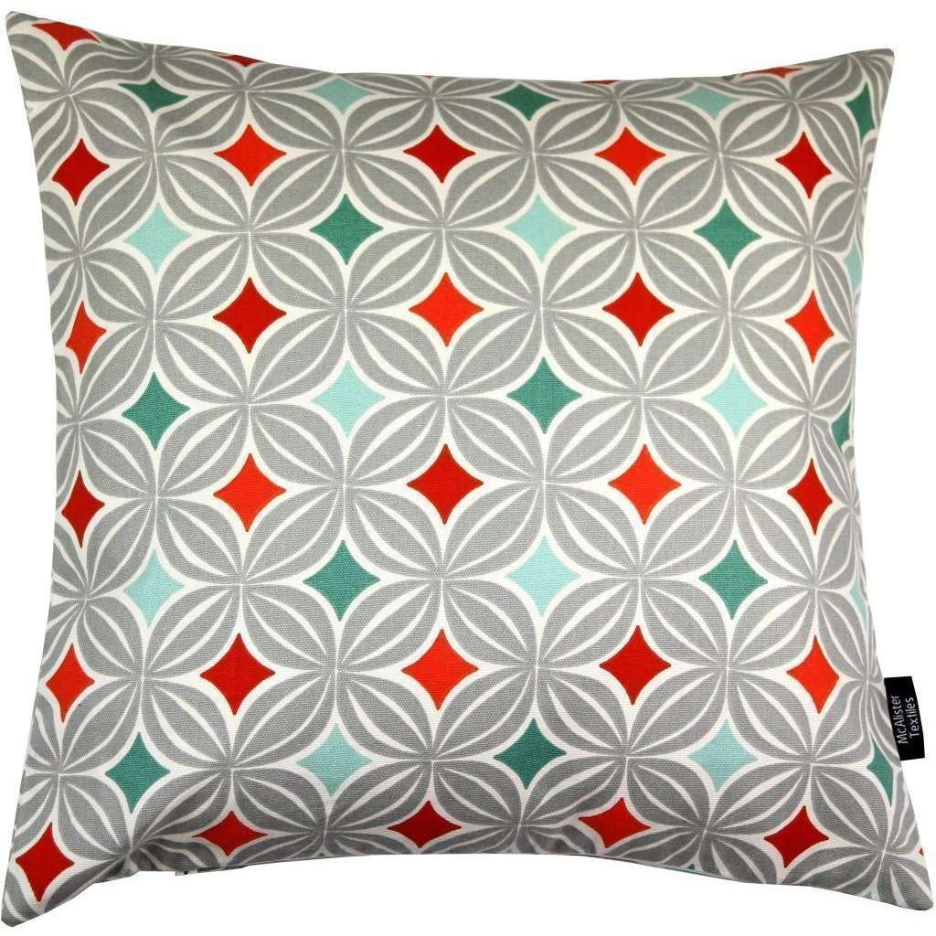 McAlister Textiles Laila Diamond Print Terracotta Orange Cushion Cushions and Covers Cover Only 43cm x 43cm