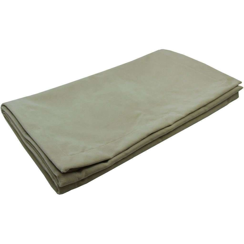 McAlister Textiles Matt Beige Mink Velvet Throw Blanket Throws and Runners Bed Runner (50cm x 240cm)