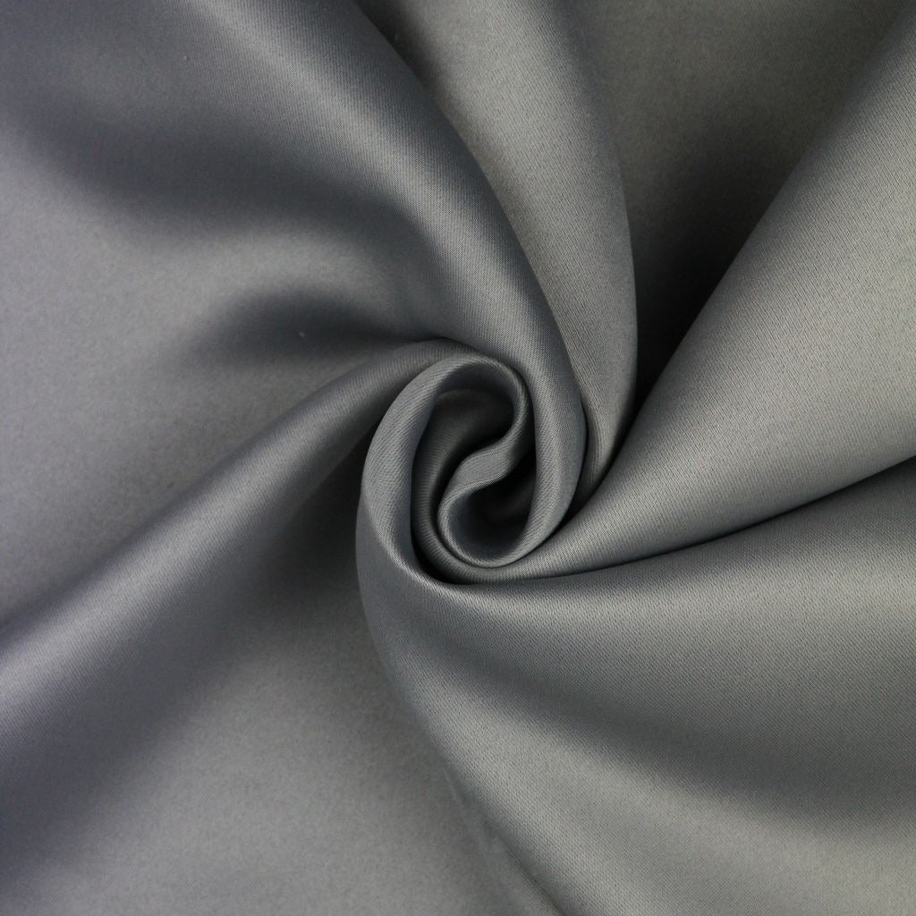 McAlister Textiles Minerals Silver Grey Blackout Curtain Fabric Fabrics 1 Metre