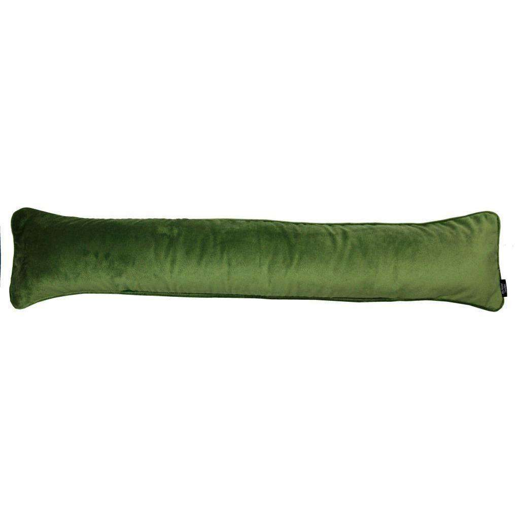 McAlister Textiles Matt Fern Green Velvet Draught Excluder Draught Excluders