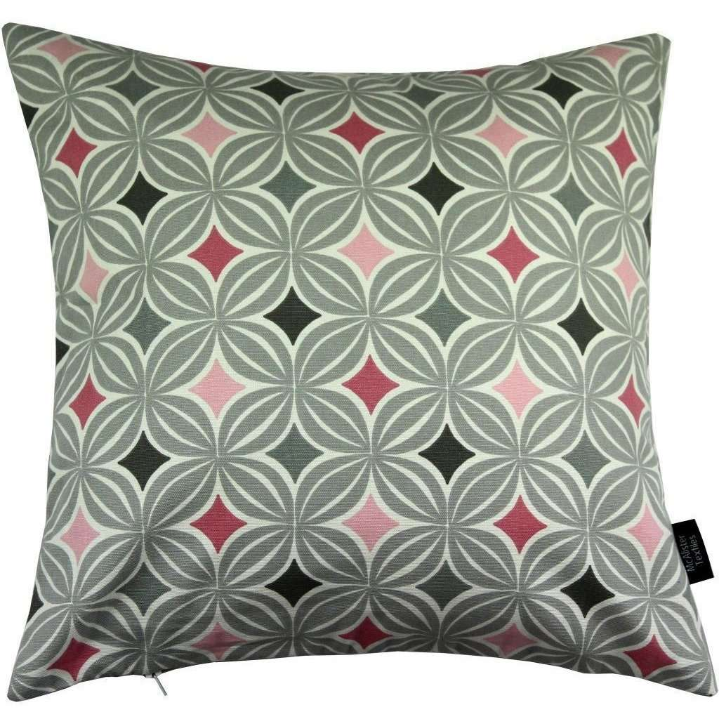 McAlister Textiles Laila Diamond Print Blush Pink Cushion Cushions and Covers Cover Only 43cm x 43cm