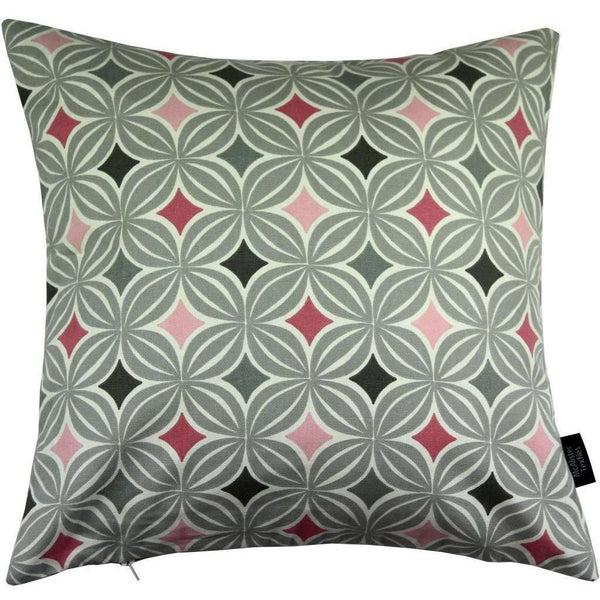 McAlister Textiles Laila Cotton Print Blush Pink Cushion Cushions and Covers Cover Only 43cm x 43cm
