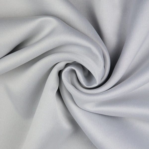 McAlister Textiles Minerals Cream White Blackout Curtain Fabric Fabrics