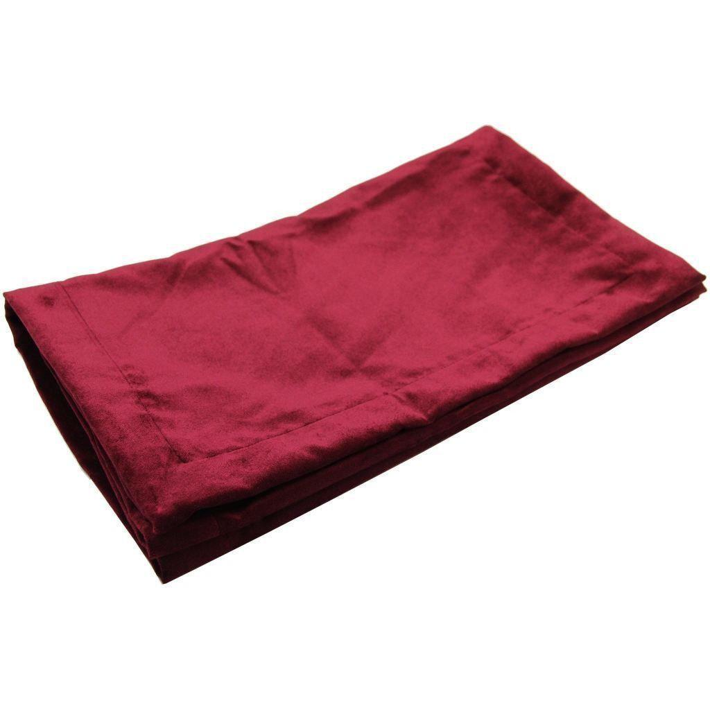 McAlister Textiles Matt Wine Red Velvet Throw Blankets & Runners Throws and Runners Bed Runner (50cm x 240cm)
