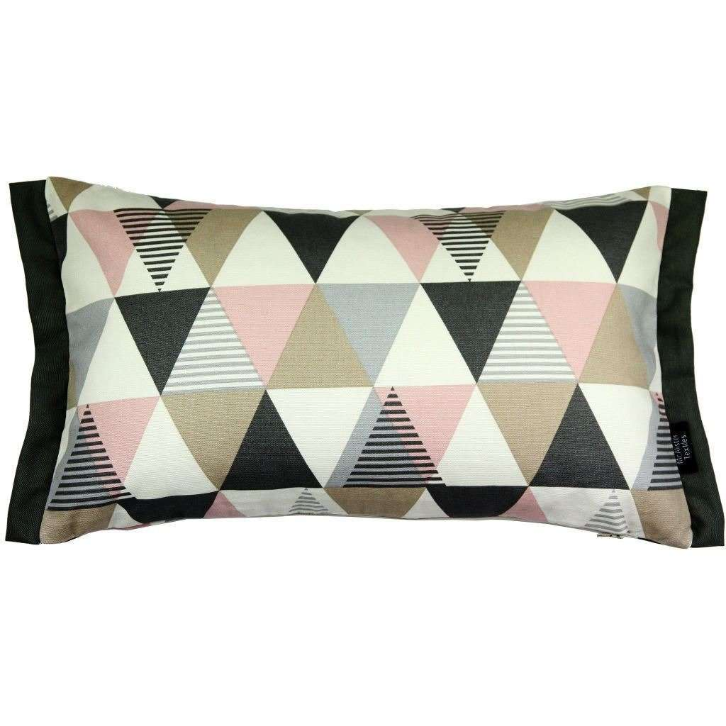 McAlister Textiles Vita Cotton Print Blush Pink Cushion Cushions and Covers Cover Only 50cm x 30cm