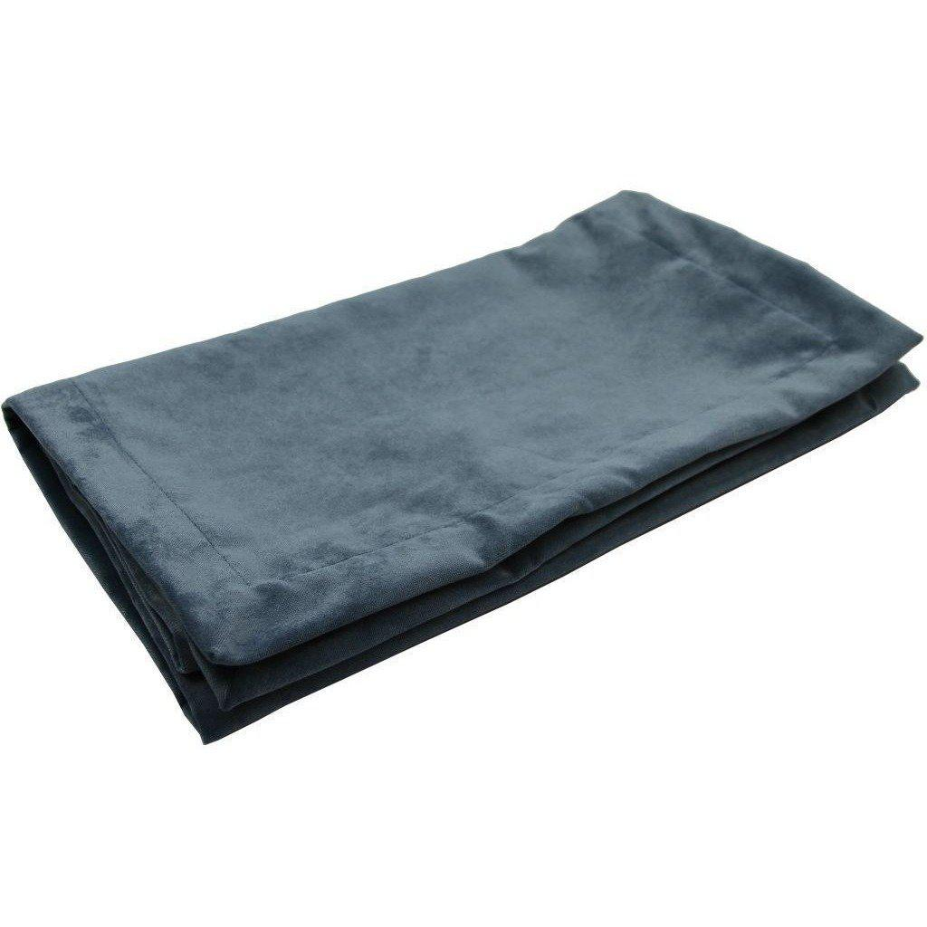 McAlister Textiles Matt Petrol Blue Velvet Throw Blankets & Runners Throws and Runners Bed Runner (50cm x 240cm)