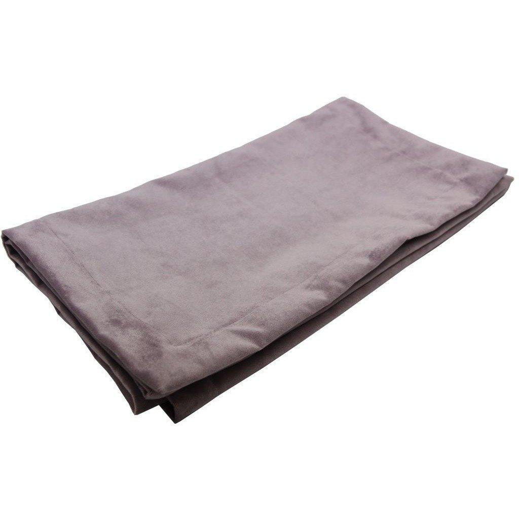 McAlister Textiles Matt Lilac Purple Velvet Throw Blankets & Runners Throws and Runners Bed Runner (50cm x 240cm)