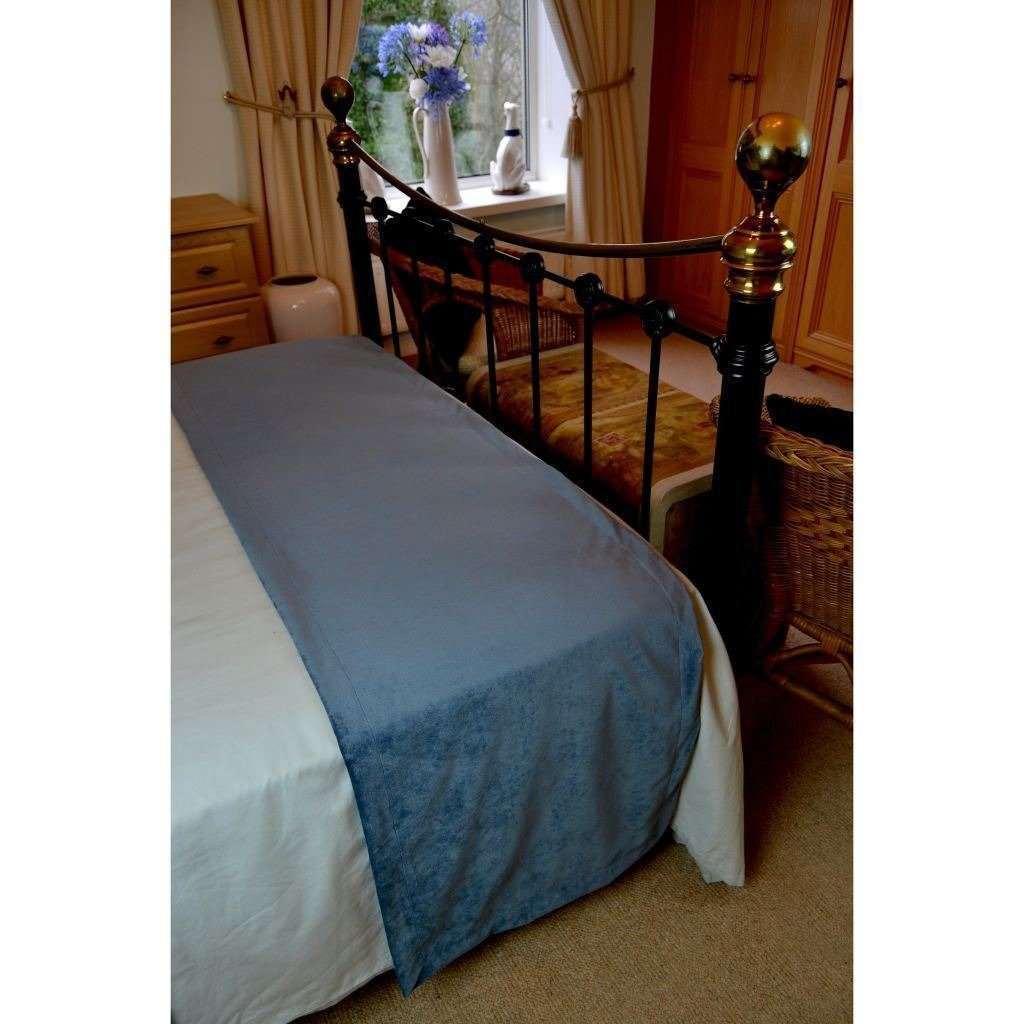 McAlister Textiles Matt Petrol Blue Velvet Throw Blankets & Runners Throws and Runners