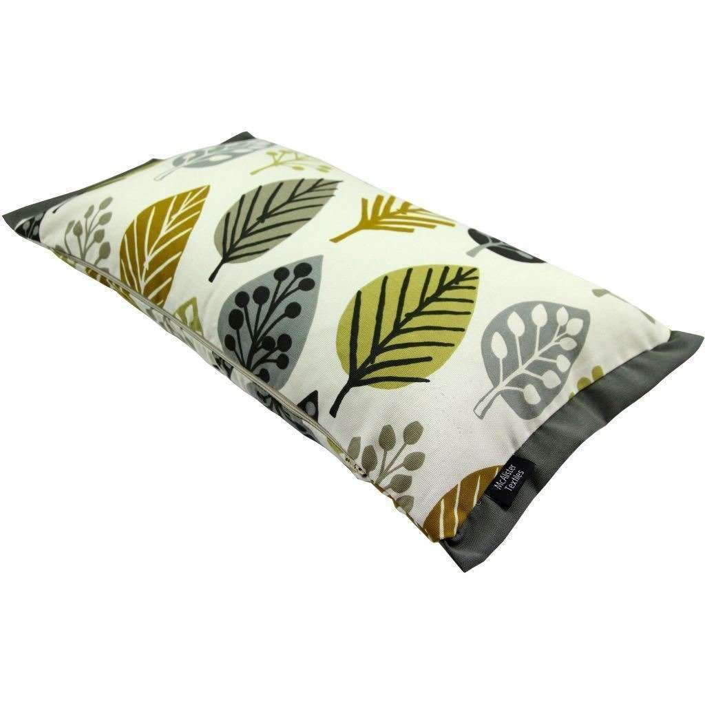 McAlister Textiles Magda Cotton Print Ochre Yellow Cushion Cushions and Covers