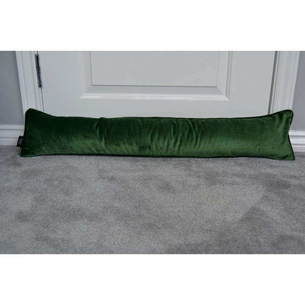 McAlister Textiles Matt Moss Green Velvet Draught Excluder Draught Excluders