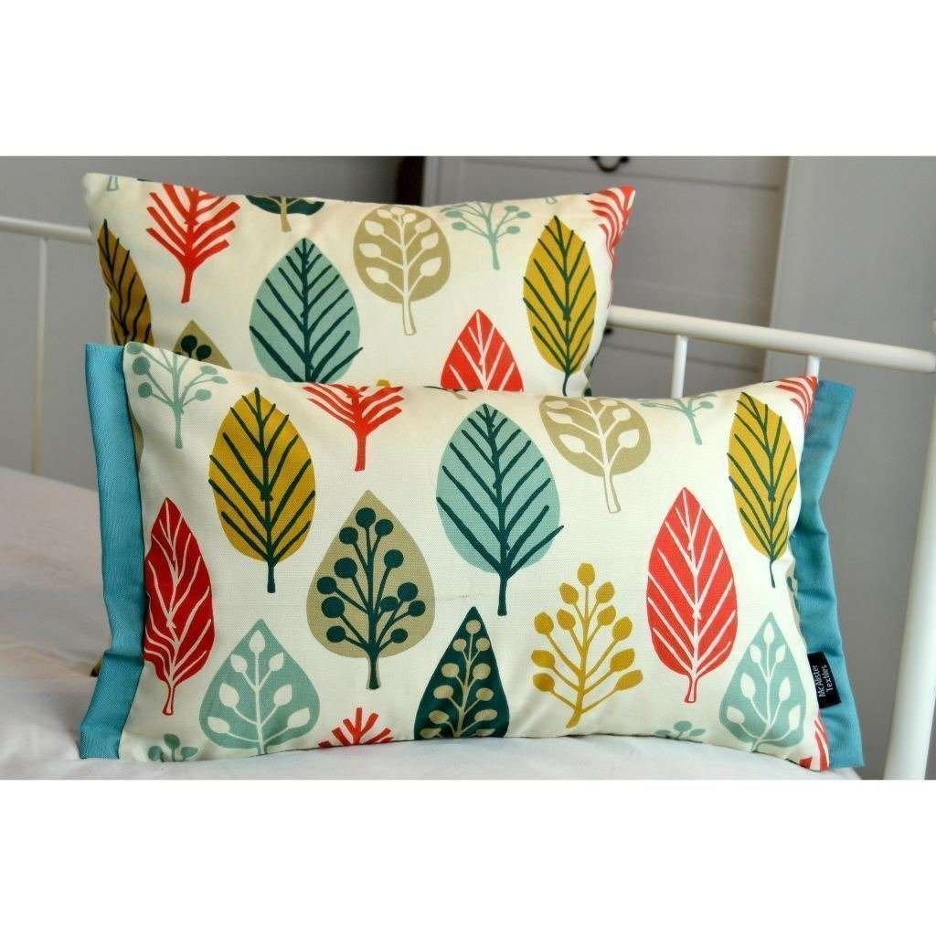McAlister Textiles Magda Cotton Print Burnt Orange Cushion Cushions and Covers