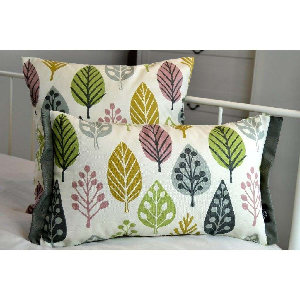 McAlister Textiles Magda Cotton Print Blush Pink Cushion Cushions and Covers