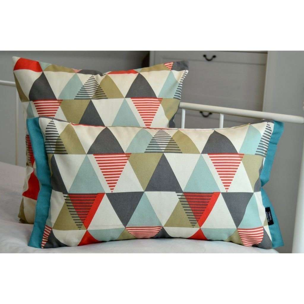 McAlister Textiles Vita Cotton Print Burnt Orange Cushion Cushions and Covers