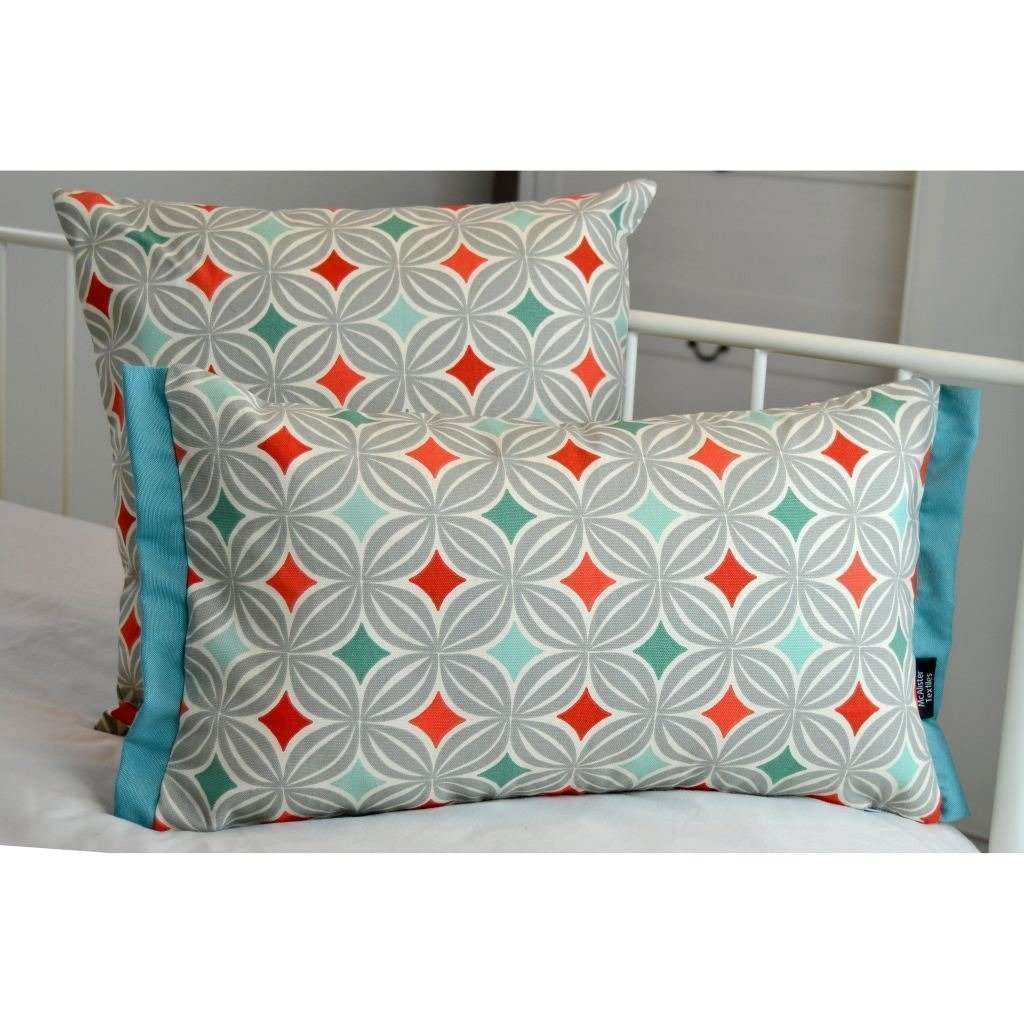 McAlister Textiles Laila Cotton Print Burnt Orange Cushion Cushions and Covers