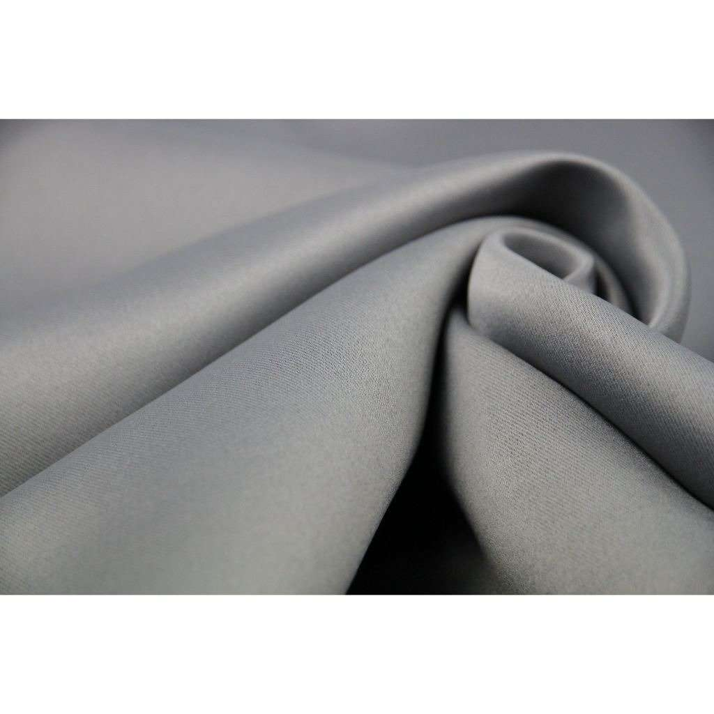 McAlister Textiles Minerals Silver Grey Blackout Curtain Fabric Fabrics