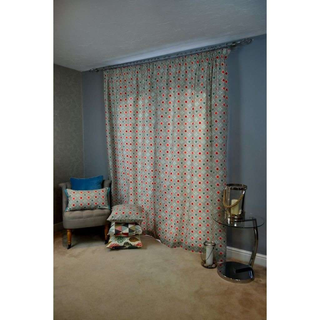 McAlister Textiles Laila Cotton Burnt Orange Curtains Tailored Curtains