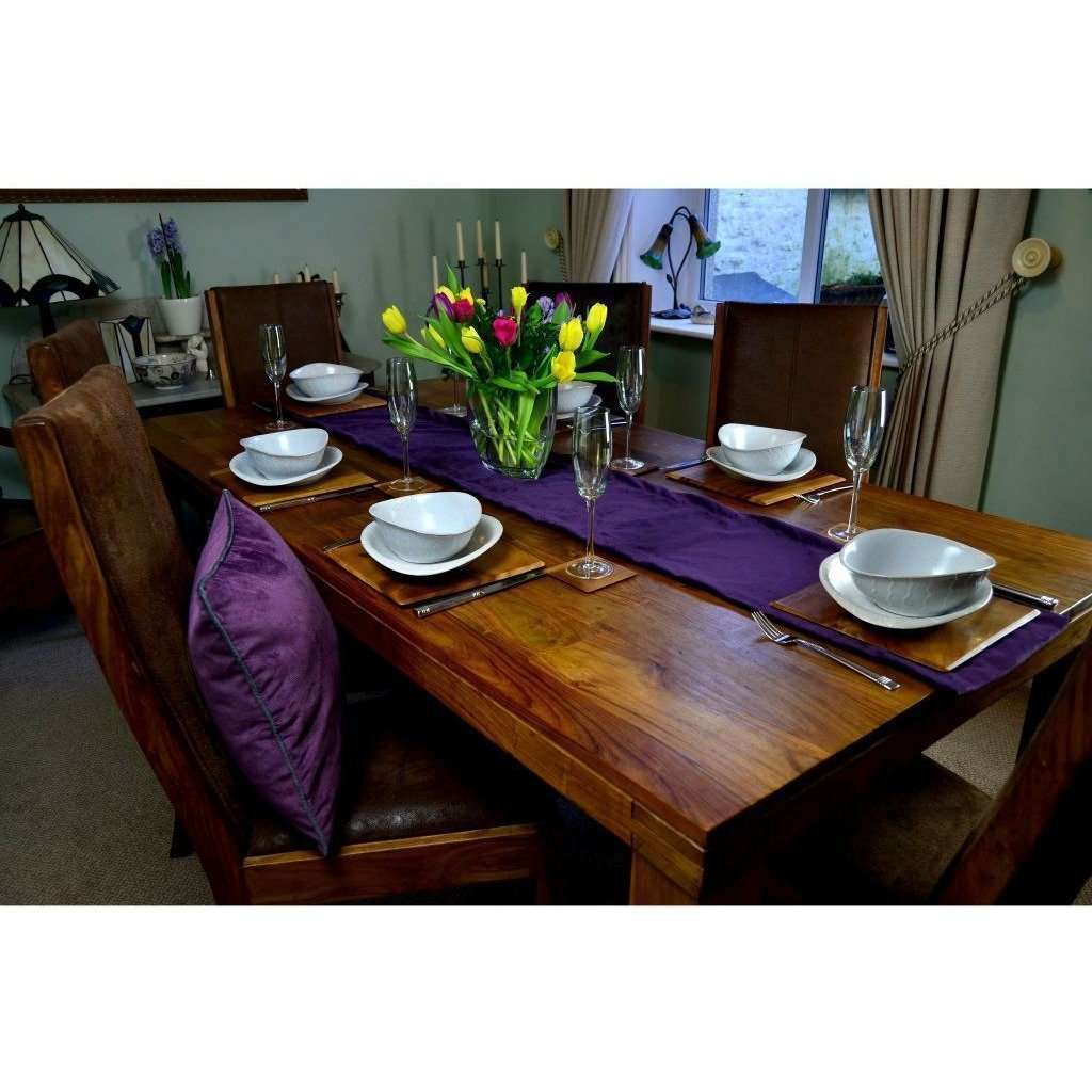 McAlister Textiles Matt Aubergine Purple Velvet Table Runner Throws and Runners