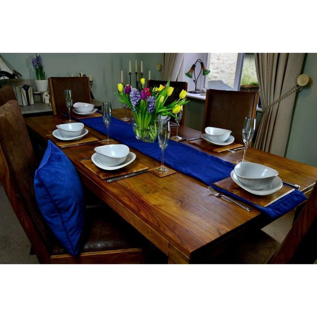 McAlister Textiles Matt Navy Blue Velvet Table Runner Throws and Runners