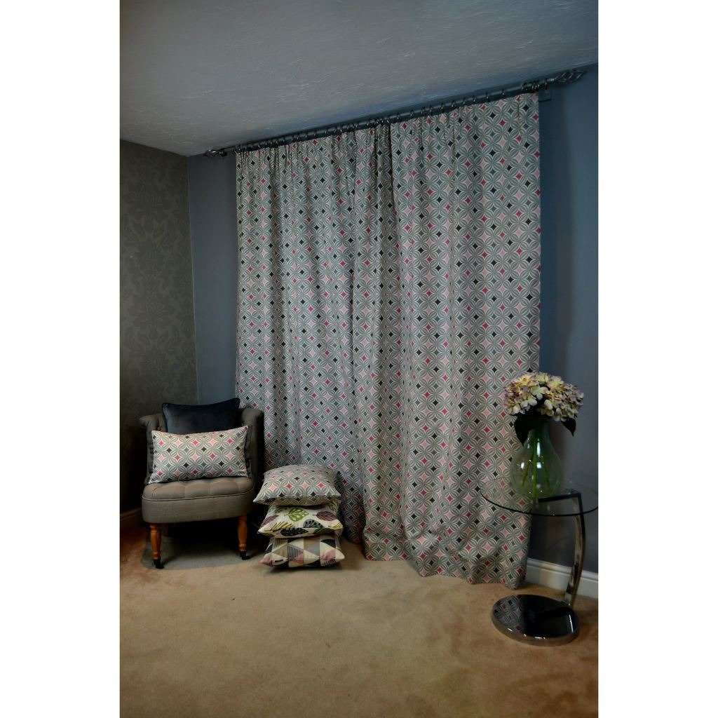 McAlister Textiles Laila Cotton Blush Pink Curtains Tailored Curtains