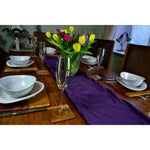 Cargar imagen en el visor de la galería, McAlister Textiles Matt Aubergine Purple Velvet Table Runner Throws and Runners
