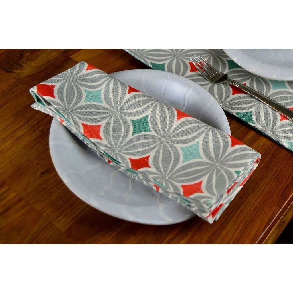 McAlister Textiles Laila Burnt Orange Cotton Napkin Set Kitchen Accessories