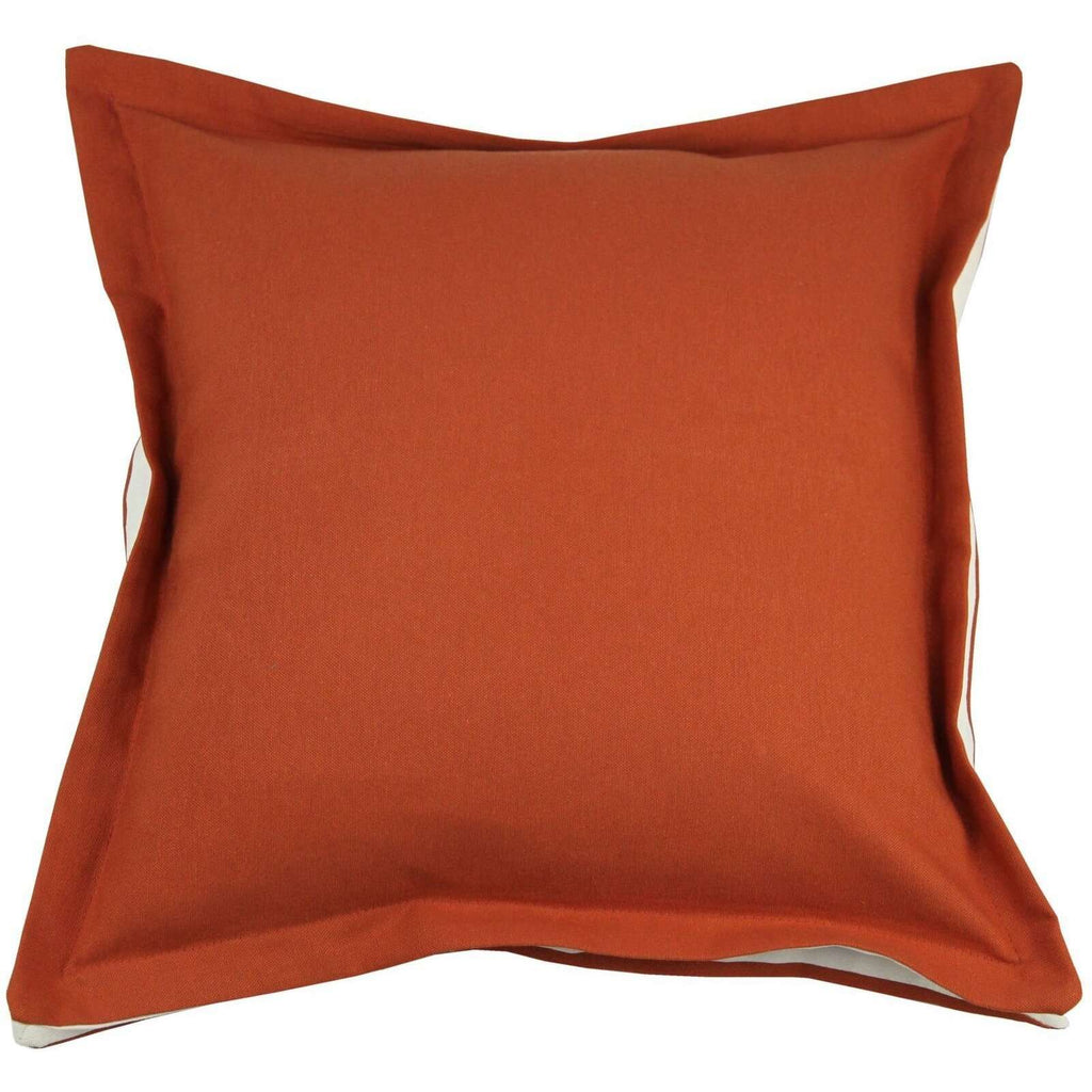 McAlister Textiles Panama Accent Orange + Natural Cream Cushion Cushions and Covers Cover Only 43cm x 43cm