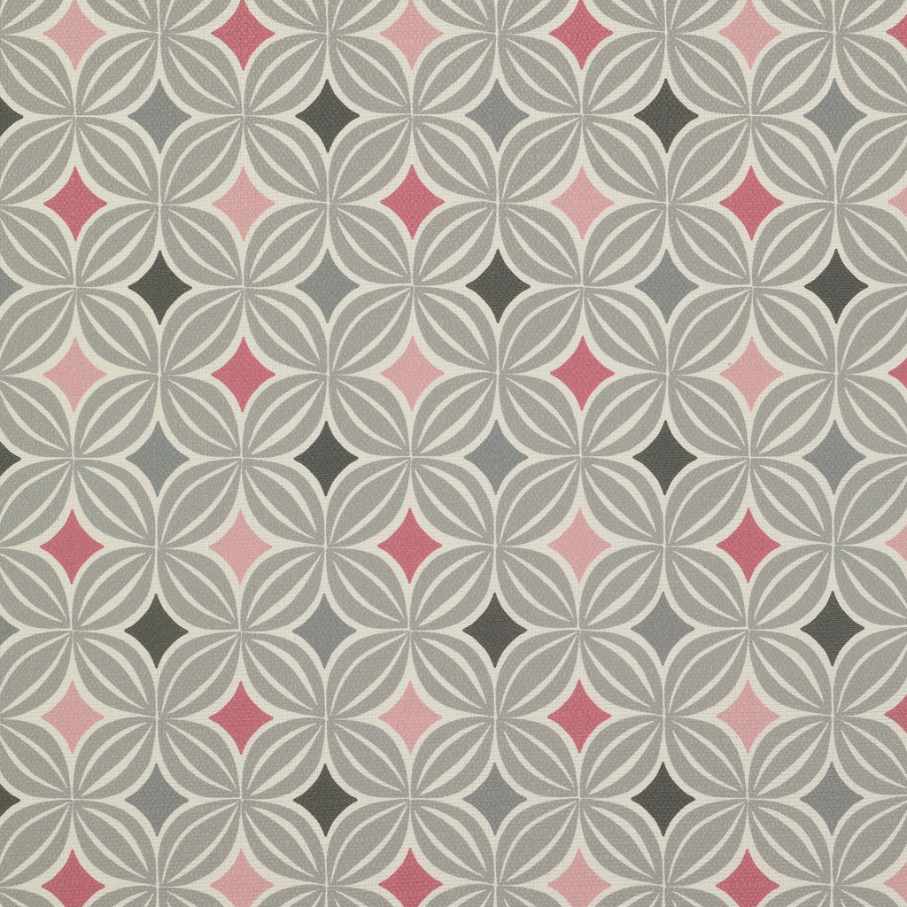 McAlister Textiles Laila Blush Pink and Grey FR Fabric Fabrics