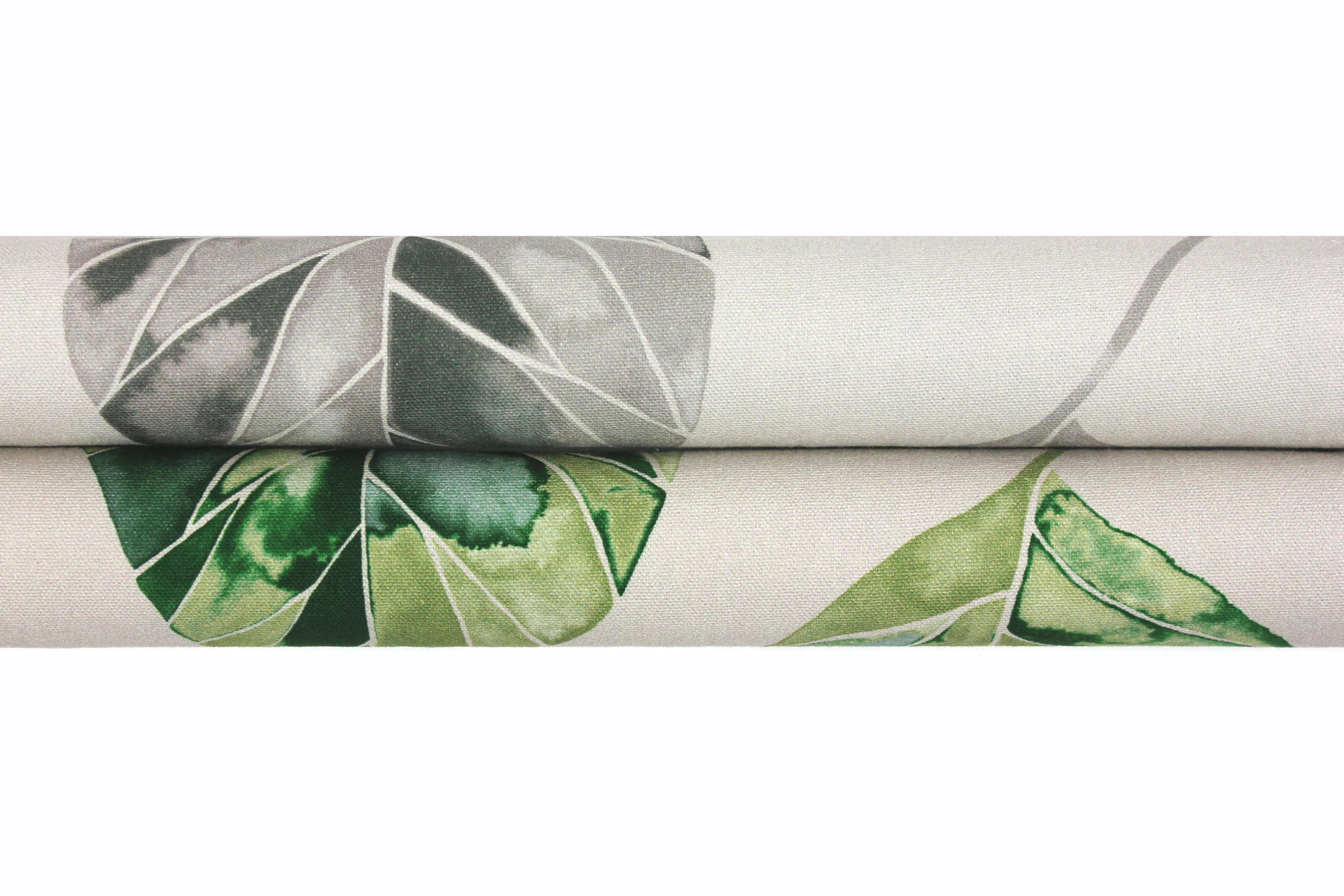 McAlister Textiles Leaf Forest Green Floral Cotton Print Fabric Fabrics