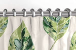 Load image into Gallery viewer, McAlister Textiles Leaf Forest Green Floral Cotton Print Curtains Tailored Curtains