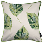 Load image into Gallery viewer, McAlister Textiles Leaf Forest Green Floral Cotton Print Piped Edge Pillows Pillow Cover Only 43cm x 43cm