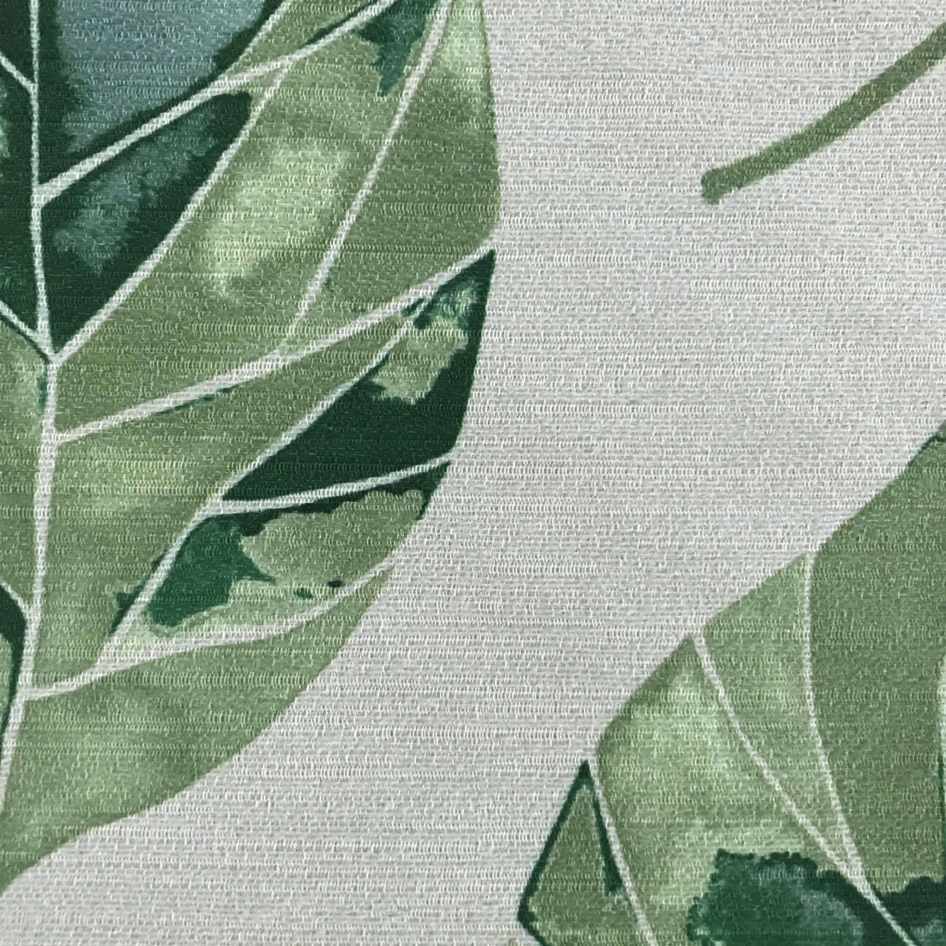 McAlister Textiles Leaf Forest Green FR Fabric Fabrics