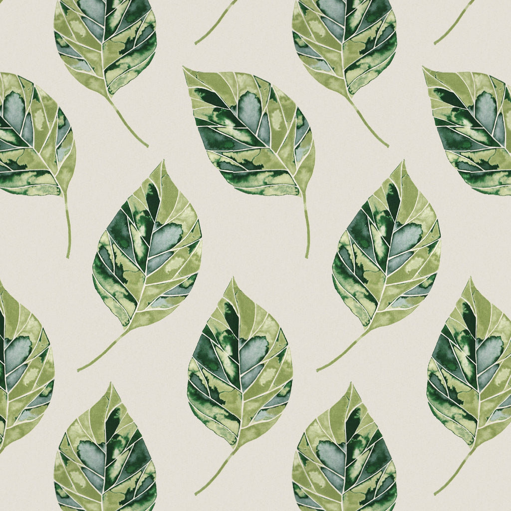 McAlister Textiles Leaf Forest Green FR Fabric Fabrics 1/2 Metre