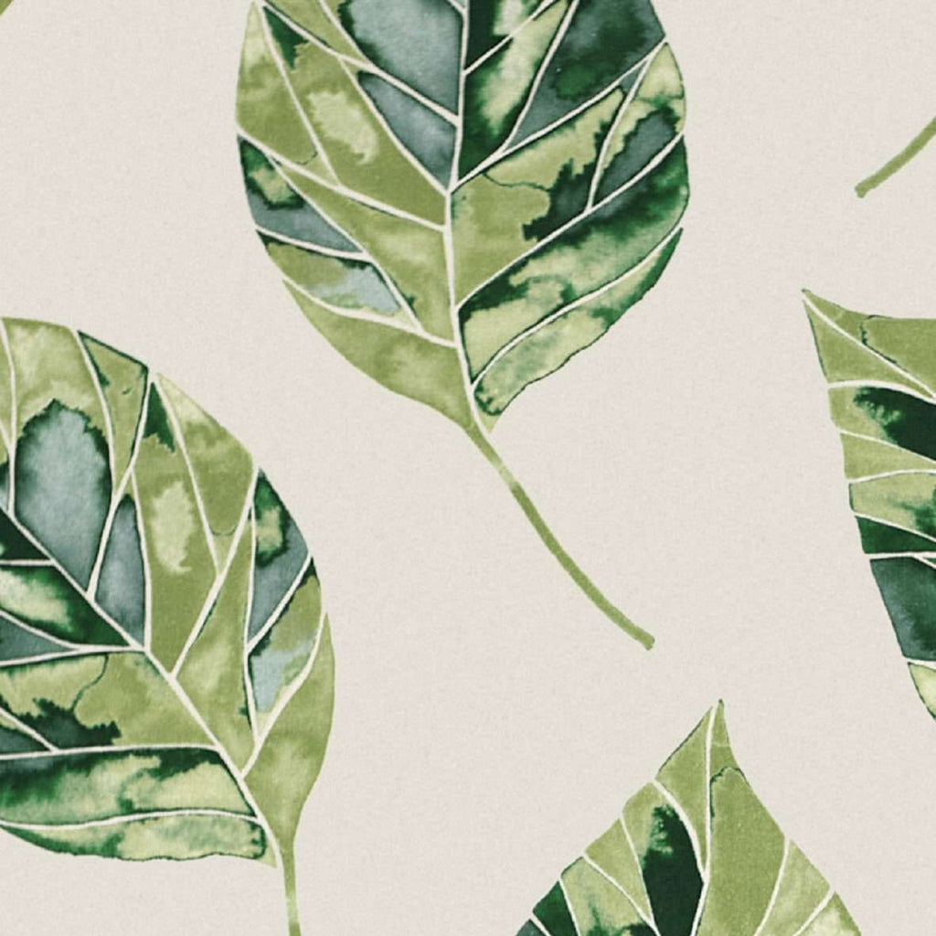 McAlister Textiles Leaf Forest Green Floral Cotton Print Roman Blinds Roman Blinds